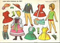 when I was kid 2 Barbie Paper Dolls, Vintage Paper Dolls, Paper Clothes, Doll Clothes, Diy And Crafts, Crafts For Kids, Paper Crafts, All Paper, Paper Art