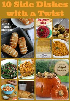 10 side dishes with a twist, recipes for Thanksgiving side dishes, unique side dish recipes for Thanksgiving, stuffed pumpkin recipe, new stuffing recipe