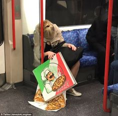 BBC reporter James Longman tweeted ♥♥ this photo of a tired passenger losing control of their...