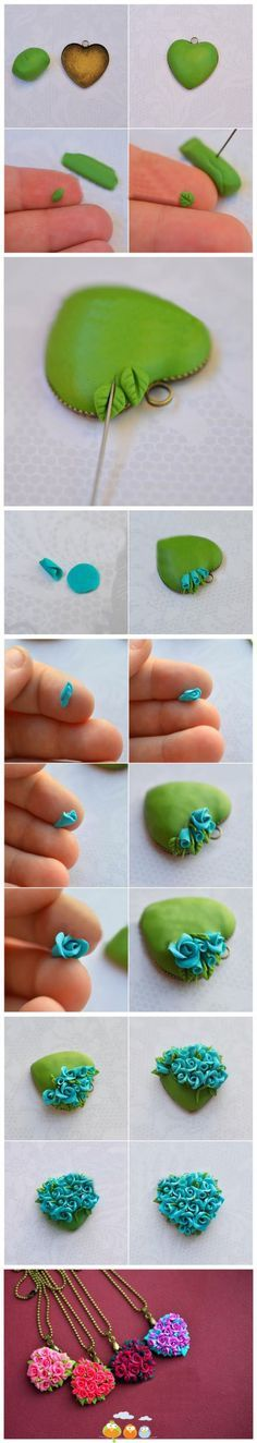how to make a clay necklace!!!