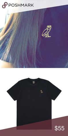 0ee96dcc9ee Octobers Very Own Embroidered T-Shirt T-shirt from Drake s OVO label! Black