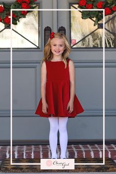 This dress is the perfect holiday dress! Christmas Dress For Teens, Girls Christmas Outfits, Holiday Dresses, Special Occasion Dresses, Dresses For Teens, Girls Dresses, Red Velvet Dress, Junior Bridesmaid Dresses, Feminine Dress