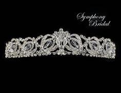 Exquisite Crystal and Rhinestone Symphony Bridal Wedding Tiara 7931CR - Affordable Elegance Bridal -