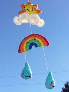 Rain and Shine Baby Mobile - etsy $25