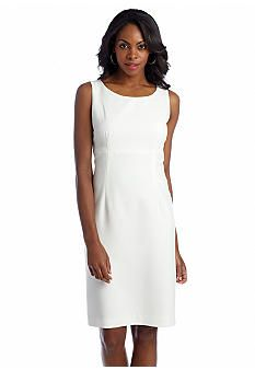 Kasper Solid Sheath Dress