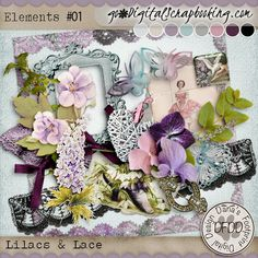 Lilacs & Lace Element pack