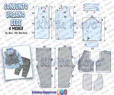 Baby Clothes Patterns, Kids Patterns, Dress Sewing Patterns, Sewing Patterns Free, Sewing For Kids, Baby Sewing, Baby Boy Dress, Wishes For Baby, Baby Shirts