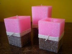 The Process of Candle Making Aromatherapy Candles, Beeswax Candles, Pillar Candles, Cute Candles, Beautiful Candles, Diy Candles With Crayons, Candle Making Supplies, Candle Accessories, Candle Containers