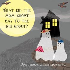 ghost joke lunch note for Halloween