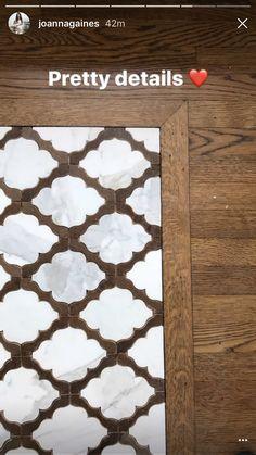 Joanne Gaines Fixer Upper Arabesque Tile inlay in Wood Flooring