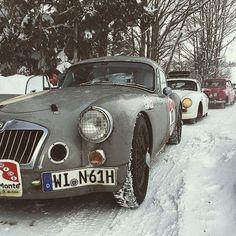 MGA coupe 1962 rally Monte