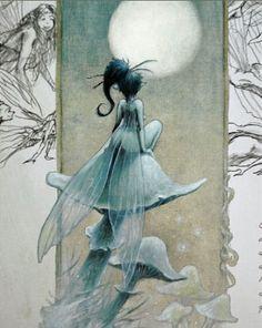 Детская Книга - L' heure des fées monge. Иллюстратор Jean-Baptiste Monge. июль 2007 г.
