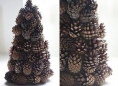 Como hacer un árbol de navidad con piñas de pinos !! | Decorar tu casa es facilisimo.com