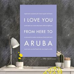 ARUBA Travel Poster | Gift Idea | HopSkipJumpPaper