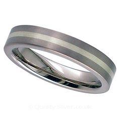 Geti Flat Titanium and White Ring