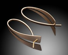 "Earrings | Ben Dyer. ""Waterfall"". 14k gold"