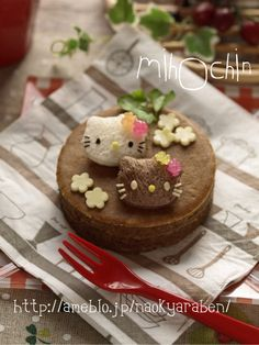 Hello kitty chocolate pancake