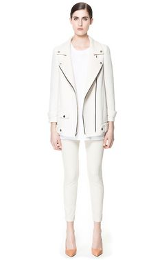 Image 1 of COMBINATION JACKET WITH ZIPS from Zara
