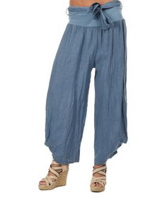 Look what I found on #zulily! Faded Blue Celeste Linen Pants by Couleur Lin #zulilyfinds