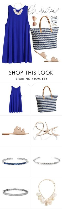 """..."" by vanny ❤ liked on Polyvore featuring H&M, MANGO, Cristina Ortiz, Suzanne Kalan, Sara Weinstock, Blue Nile and Linda Farrow"