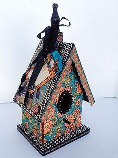 Steampunk Spells Altered Art Birdhouse from @Diane Haan Lohmeyer Haan Lohmeyer Haan Lohmeyer Schultz workshop! #graphic45