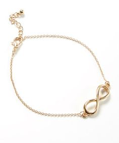 Look what I found on #zulily! Gold Infinity Anklet #zulilyfinds