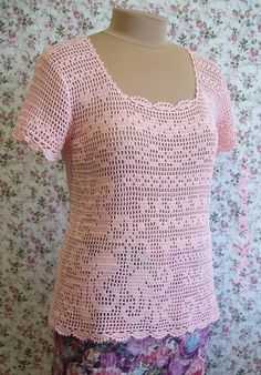 filet crochet blouse pattern