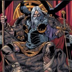 Odin always appeared as an old man with white bear wearing dark cloak. Behind the image of such an old man was the infinite source of power and wisdom. The question is how powerful Odin the Allfather actually was in Norse mythology. Arte Dc Comics, Odin Comics, A Comics, Ahura Mazda, Asgard, Hq Marvel, The Mighty Thor, Legends And Myths, Marvel Entertainment