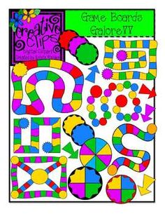 This colorful set gives you fast, easy templates for creating original board games in your classroom and lesson materials. 29-images! Personal and commercial use $