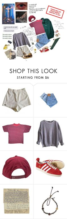 """""""our last kiss: the church roof"""" by jjaded ❤ liked on Polyvore featuring Lacoste, Balenciaga, Levi's, American Apparel, Brixton, Catherine Michiels, Converse, Ash, Plane and FRUIT"""