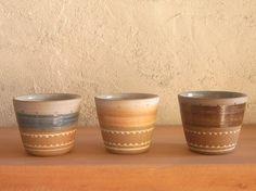 Ceramic mug そばちょこゆのみ(青・茶)