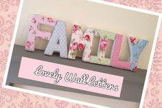 Floral Family Wall Letters