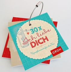 30 Ich liebe Dich-Kärtchen Christmas Ornaments, Holiday Decor, Tableware, Home Decor, Marriage Anniversary, Love, Cards, Gifts, Simple