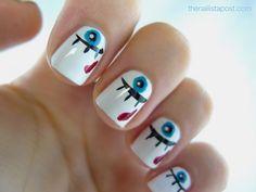 Nail art yeux sur The Nailista Post