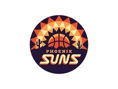 NBA Logo Redesigns: Phoenix Suns designed by Michael Weinstein. Hockey Logos, Sports Logos, Badges, Sun Logo, Phoenix Suns, Logo Sign, Badge Design, Logo Concept, Chicago Cubs Logo