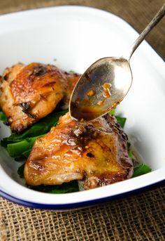 Sticky thai roasted chicken