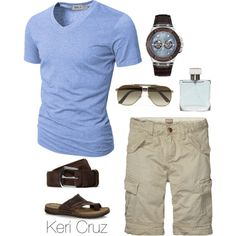 Men's Summer Style by keri-cruz on Polyvore featuring Doublju, GUESS, Loro Piana, Mantaray, Azzaro, Gucci and Scotch & Soda
