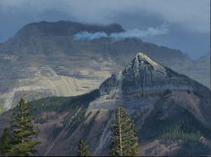 Glacier Mist by Dennis Farris Oil ~ 18 x 24