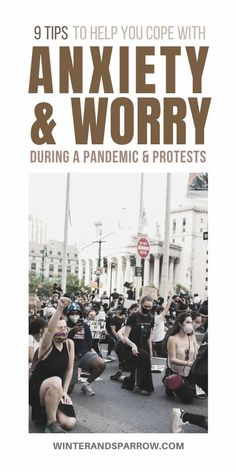 9 Tips To Help You Cope with Anxiety During Protests and Pandemics | winterandsparrow.com #copingskills #dealingwithanxiety #anxietyduringprotests #anxietyduringpandemics #copingtechniques #groundingtechniques Stress Management Activities, Management Tips, Anxiety Tips, Anxiety Help, Stress Quotes, Mental Health Conditions, Fight Or Flight, Breathing Techniques, Seizures