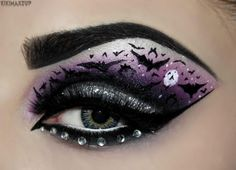 Caped Crusader! (BATMAN) Products used are Sugarpill, Concrete Minerals, House of Lashes and Bitchslap. Contacts are www.beautifeye.co.uk