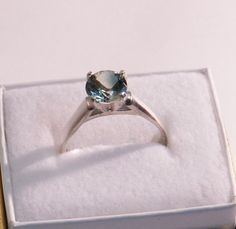 Oregon Sunstone Ring  Teal Green    #58 on Etsy, $89.00