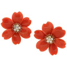 View this item and discover similar for sale at - Classic and timeless, these vintage large size Rose De Noel red coral diamond earrings by Van Cleef & Arpels are a staple. The hue of the coral and dark Vintage Earrings, Clip On Earrings, Gold Earrings, Orange Wedding Colors, Diamond Earing, Van Cleef Arpels, Floral Crown, Earring Backs, Fine Jewelry