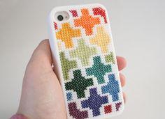 Dream a Little Bigger - Dream a Little Bigger Craft Blog - Cross Stitch iPhoneCover!
