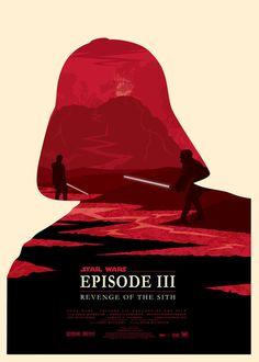 Star Wars en affiches minimalistes : La Revanche des Sith / Olly Moss