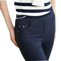 78e95feb36e Free Shipping 2018 New Autumn Fashion Pencil Jeans Woman Candy Colored Mid  Waist Full Length Zipper