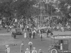 Fried foods were all the rage even at the 1927 Indiana State Fair as seen in this photo shot in the Midway.