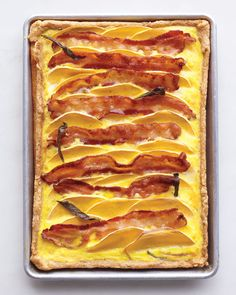 Butternut Squash and Bacon Quiche. I dont eat bacon, but that sounds good! I could use fake bacon. Healthy Dinner Recipes, Breakfast Recipes, Cooking Recipes, Delicious Recipes, Cooking Tips, Healthy Food, Eat Breakfast, Amazing Recipes, Eating Healthy