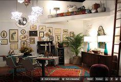 lighting + frames + rugs