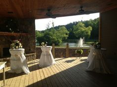 Local Wedding Resources : Willow Creek Falls & Vineyard : Blue Ridge, GA : Cocktail hour area