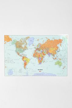 Dry Erase World Map  #UrbanOutfitters